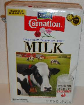 Nonfat powdered dry milk